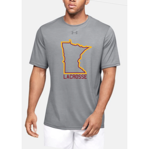 U of M Lacrosse Men's UA (Locker Tee 2.0) Gray