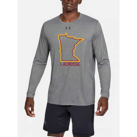U of M Lacrosse Men's UA (Locker Tee 2.0 LS) Gray
