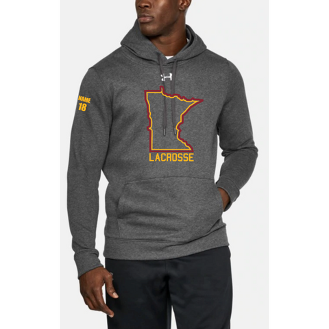 U of M Lacrosse Adult UA (Hustle Fleece Hoody) Gray