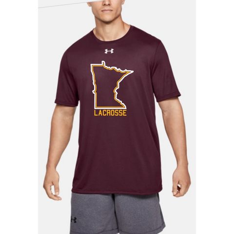 U of M Lacrosse Men's UA (Locker Tee 2.0) Maroon