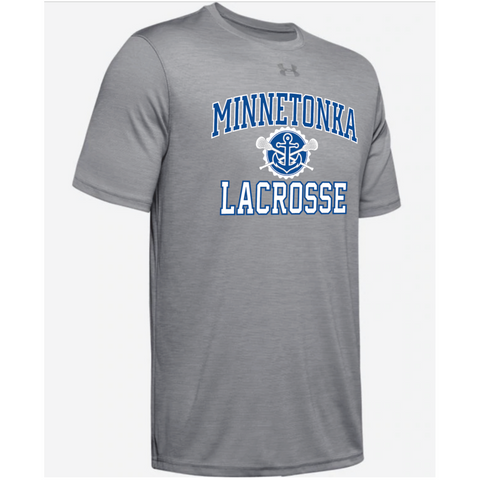 Minnetonka Lacrosse Men's UA (Locker Tee 2.0) Gray