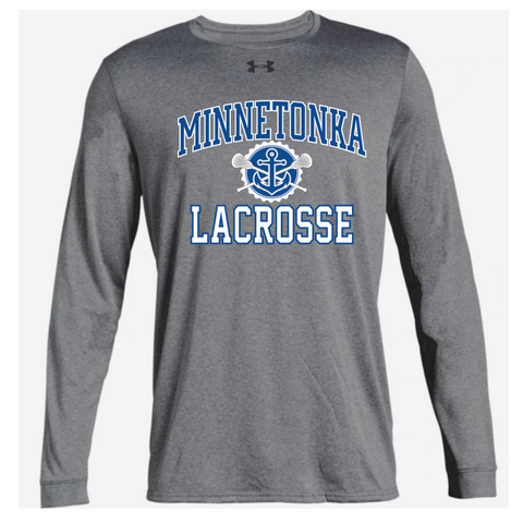 Minnetonka Lacrosse Men's UA (Locker Tee 2.0 LS) Gray