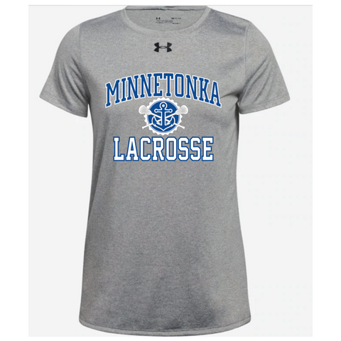 Minnetonka Lacrosse Women's UA (Locker Tee 2.0) Gray