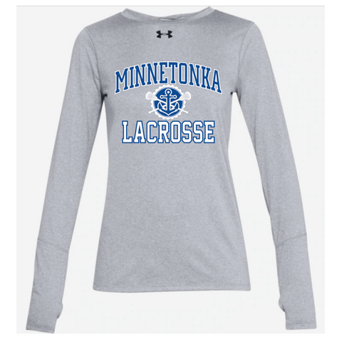 Minnetonka Lacrosse Women's UA (Locker LS 2.0) Gray