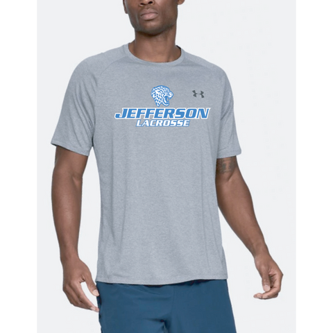 Jefferson Lacrosse Men's UA (Tech Tee) Steel Light Heather