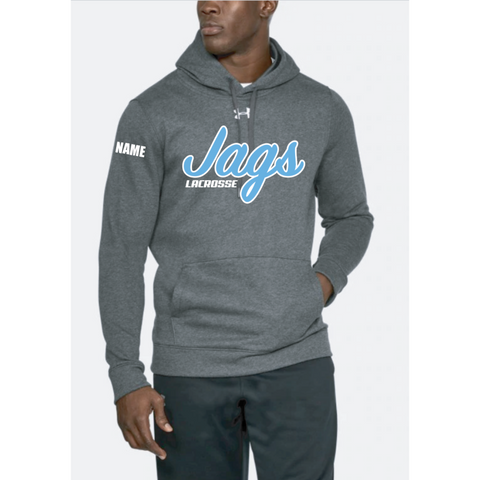 Jefferson Lacrosse Men's UA (Hustle Fleece Hoody) Carbon Heather
