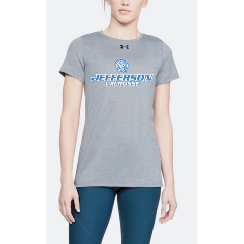 Jefferson Lacrosse Women's UA (Locker Tee 2.0) True Gray Heather