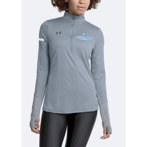Jefferson Lacrosse Women's UA (Locker 1/2 Zip) Steel
