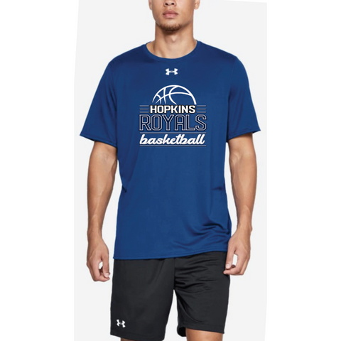 Hopkins Basketball Men's UA (Locker Tee 2.0 SS) Royal