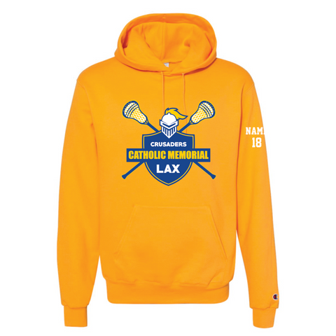 CMH Lacrosse Champion (Double Dry Eco® Hooded Sweatshirt) Gold