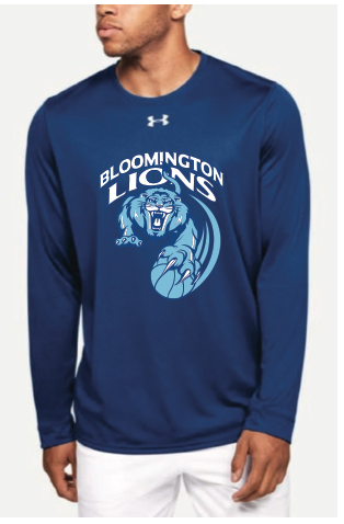 Bloomington Basketball Men's UA (Locker Tee 2.0 LS) Royal