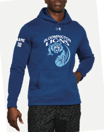 Bloomington Basketball Men's UA (Hustle Fleece Hoody) Royal
