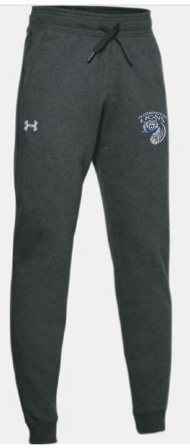 Bloomington Basketball Youth UA (Hustle Fleece Joggers) Black Light Heather