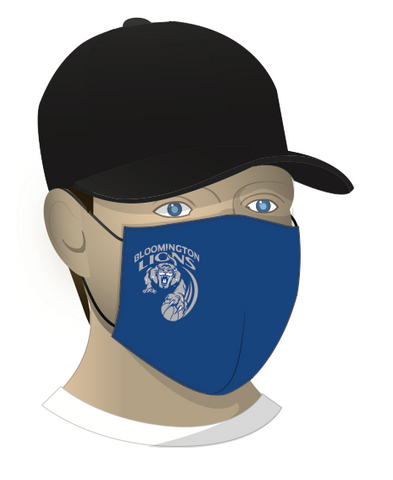 Bloomington Basketball Face Mask - Royal