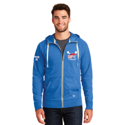 Spring Lake Park Lacrosse Unisex New Era (Cotton Blend Zip Hoodie) Royal