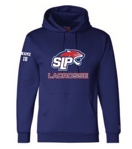Spring Lake Park Lacrosse UNISEX Champion (Double Dry Eco Hoodie) Royal