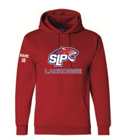 Spring Lake Park Lacrosse UNISEX Champion (Double Dry Eco Hoodie) Red