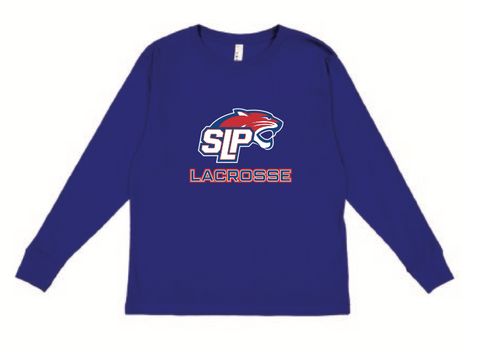 Spring Lake Park Lacrosse Youth LAT (Fine Jersey Long Sleeve Tee) Royal