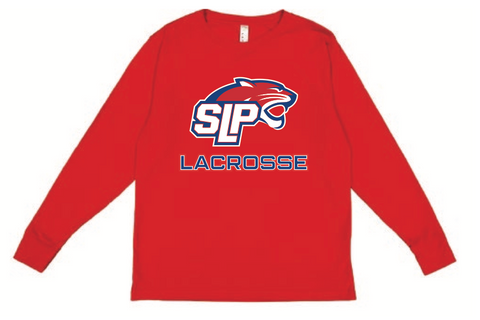 Spring Lake Park Lacrosse Youth LAT (Fine Jersey Long Sleeve Tee) Red