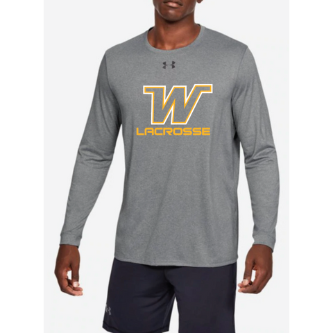 Wayzata Lacrosse Men's UA (Locker 2.0 Long Sleeve) True Gray Heather