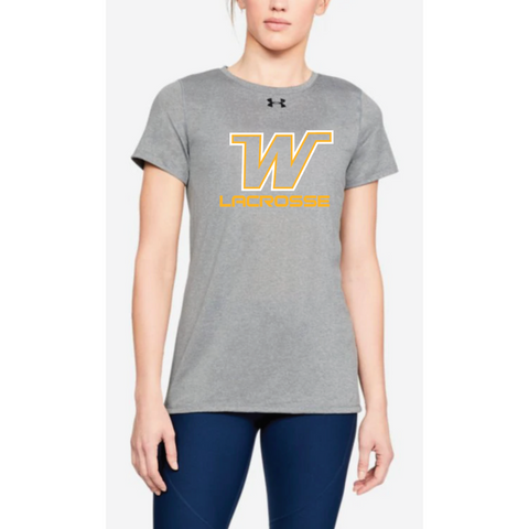 Wayzata Lacrosse Women's UA (Locker Tee 2.0) True Gray Heather
