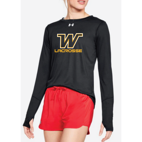 Wayzata Lacrosse Women's UA (Locker Tee LS 2.0) Black