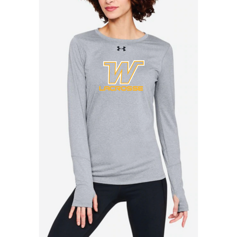 Wayzata Lacrosse Women's UA (Locker Tee LS 2.0) True Gray Heather