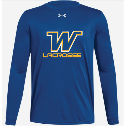 Wayzata Lacrosse Youth UA (Locker Tee LS) Royal