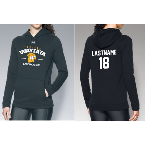 Wayzata Lacrosse Women's UA (Hustle Fleece Hoody) Black