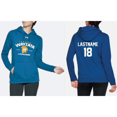 Wayzata Lacrosse Women's UA (Hustle Fleece Hoody) Royal