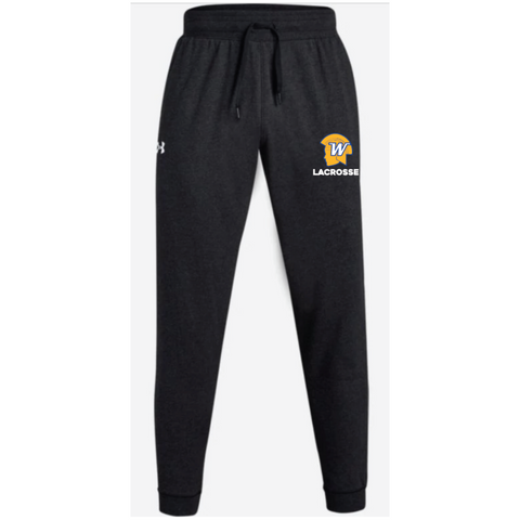 Wayzata Lacrosse Men's UA (Hustle Fleece Joggers) Black