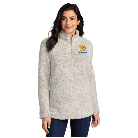Wayzata Lacrosse Women's Port Authority (Cozy 1/4-Zip Fleece) Oatmeal