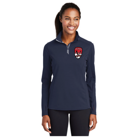 VFD Ladies Sport-Tek (Sport-Wick Textured 1/4-Zip) Navy