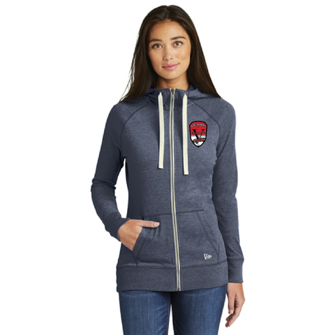 VFD Ladies New Era (Sueded Cotton Blend Full-Zip Hoodie) True Navy Heather