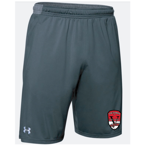 "VFD Men's Under Armour (Locker 9"" Pocketed Shorts) STEALTH GRAY"
