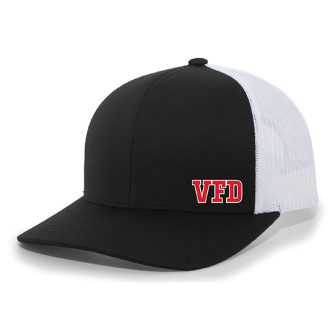 VFD Pacific Headwear (TRUCKER MESH) Black/White