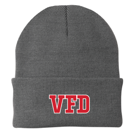 VFD Port & Company (Knit Cap) Athletic Oxford