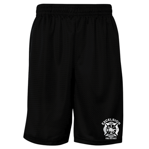 Excelsior Fire Department (Badger Mesh Shorts) - Black