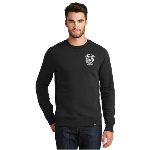 Excelsior Fire Department (New Era Terry Crew Sweatshirt) - Black