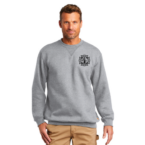 Hopkins Fire Dept. Carhartt (Mid-weight Crewneck Sweatshirt) Heather Gray