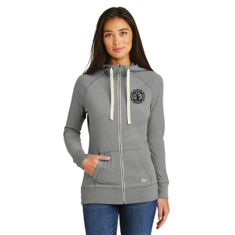 Hopkins Fire Dept. Women's New Era (Sueded Cotton Full-Zip Hoodie) Gray