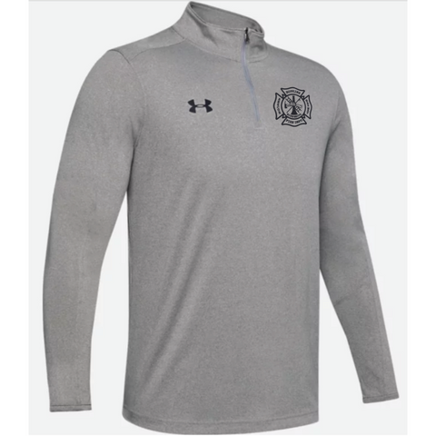 Hopkins Fire Dept. Men's Under Armour (Locker 1/4 Zip) True Gray Heather