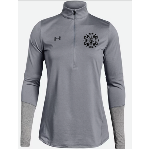 Hopkins Fire Dept. Women's Under Armour (Locker 1/2 Zip) True Gray