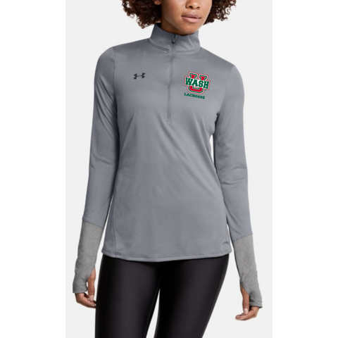 Wash U Women's Under Armour 1/4 Zip Pullover - Gray