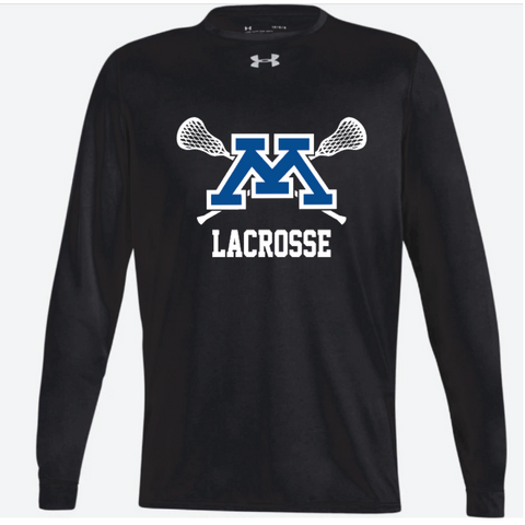 Minnetonka Lacrosse Men's UA (Locker Tee 2.0 LS) Black