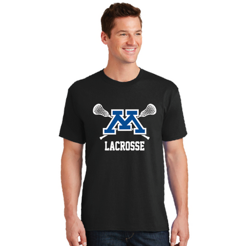 Minnetonka Lacrosse Adult Port & Company (Core Cotton Tee) Black