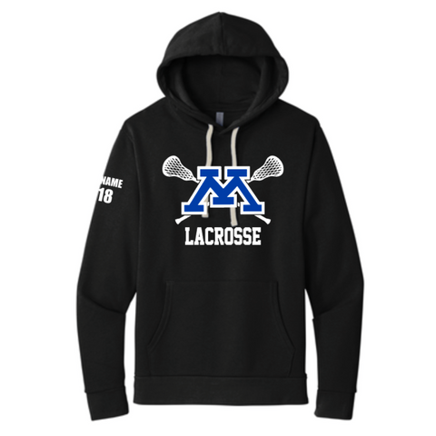 Minnetonka Lacrosse Unisex Next Level (Fleece Hoodie) - Black