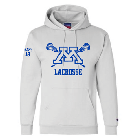 Minnetonka Lacrosse Adult Champion (Double Dry Eco Hooded Sweatshirt) White