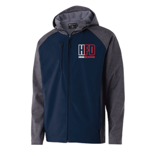 Hopkins Fire Men's (RAIDER SOFTSHELL JACKET) Navy