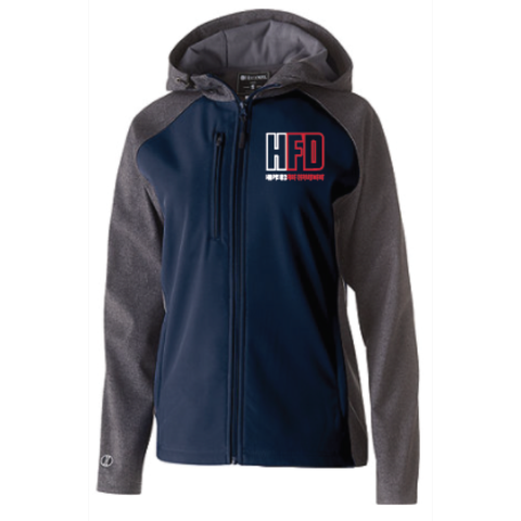 Hopkins Fire Women's (RAIDER SOFTSHELL JACKET) Navy